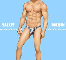 Sexy Male Pinup - Salut Marin Sailor by EddieChin