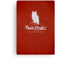 Twin Peaks minimalist print no 2 Canvas Print