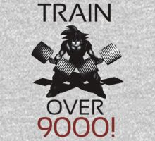 Train over 9000-BW Black Letters by m4x1mu5