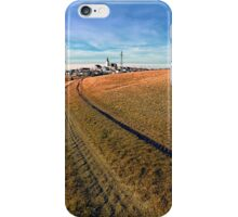 On the way to the village center | landscape photography iPhone Case/Skin
