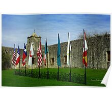 Flags at Spanish Fort Poster