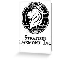 Stratton Oakmont Inc. Greeting Card