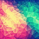 Abstract Polygon Multi Color Cubism Triangle Design by badbugs