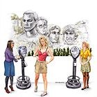 Big Bang Theory Mount Rushmore by Jesse Rubenfeld