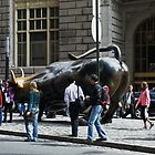 Charging Bull of Wall Street New York by AnnDixon