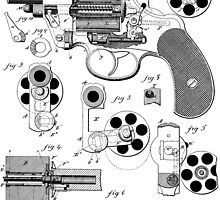Revolving Fire Arm Patent 1881 by chris2766