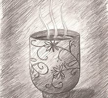 Pencil Drawing of  a Japanese Teacup by BubblegumLocks