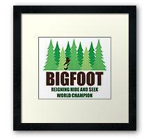 Bigfoot Sasquatch Hide and Seek World Champion Framed Print