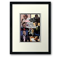 The Wire + Grand Theft Auto | Grand Theft Baltimore Framed Print