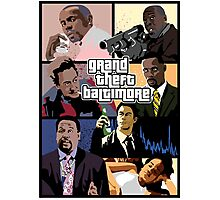 The Wire + Grand Theft Auto | Grand Theft Baltimore Photographic Print