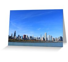 The Chicago Skyline Greeting Card