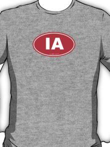 Iowa IA Euro Oval RED T-Shirt