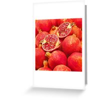 Pomegranate Red Greeting Card