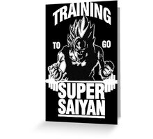 Training to go Super Saiyan (White Edition) Greeting Card