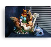 Winnie-the-Pooh and Friends Teapot Canvas Print