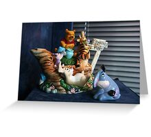 Winnie-the-Pooh and Friends Teapot Greeting Card