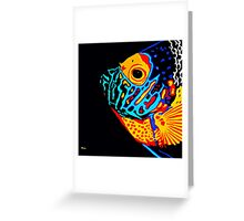 Angel Fish Swimming in the Deep Greeting Card