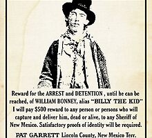 Billy the Kid Wanted Poster by kayve