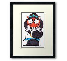 Fearsome Desert Tigress Framed Print