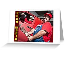 SexyMario - Wrench in Hand Greeting Card