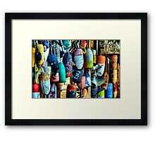 Buoys and Props Framed Print