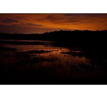 Edge of nightfall – Great Meadows series Photographic Print