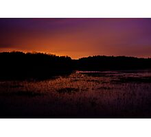 Lavender haze of night – Great Meadows series Photographic Print
