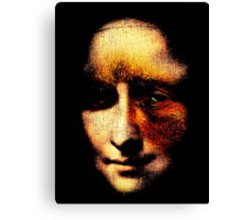 monalisa with eyes that watch the world and can't forget Canvas Print
