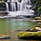 Waterfall on Dunloup Creek by Kenneth Keifer