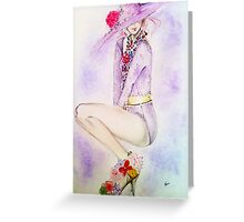 Lady in hat  Greeting Card