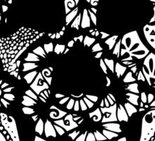 Zentangle Skull Sticker