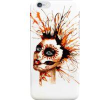 Marigold sugar skull iPhone Case/Skin