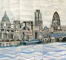 London Skyline by tiffanybudd