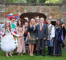 Sleeping Beauty cast with the Mayor and Deputy Mayor of Bromley by Keith Larby