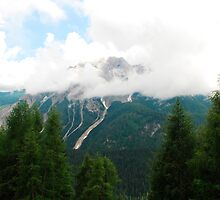 Low Cloud Over Carnic Alps Near Sauris by jojobob