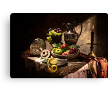 Fruits by Window Light Canvas Print