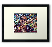 The Man and his Blues. Framed Print