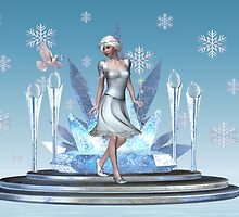 Christmas Sparkle .. the fae and the dove by LoneAngel