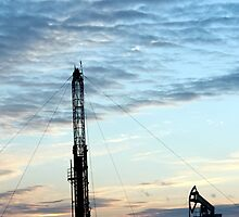 Drilling Rig at sunset  by bashta