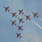 Apollo Formation   The Red Arrows by mike  jordan.