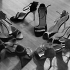 Comme il faut, tango dancing shoes, b & w by Aikaterini  Koutsi Marouda