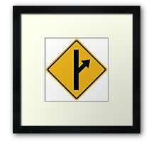 MGTOW Symbol (orange) for Men Going Their Own Way  Framed Print