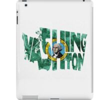 Washington Typographic Map Flag iPad Case/Skin
