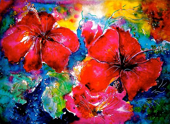 Hibiscus Morning by © Janis Zroback