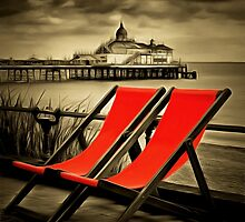 Eastbourne pier & deckchairs by AndyHuntley