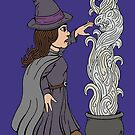 Cute Witch by Richard Fay