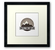 Into the wild happyness is only real when shared Framed Print