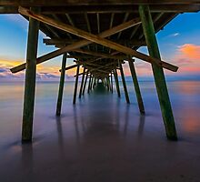 Bogue Inlet Pier at Dawn by Kenneth Keifer