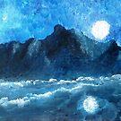 MOON OVER MOUNTAIN  by WhiteDove Studio kj gordon