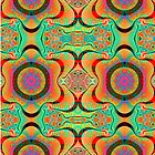 Colourful pattern and fantasy flowers by walstraasart